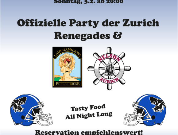 Superbowlparty, 3. Februar 2019